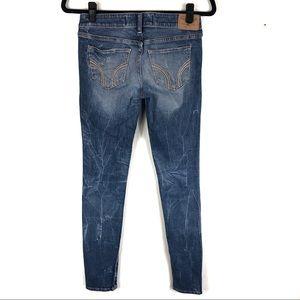 acid washed hollister skinny jeans i27